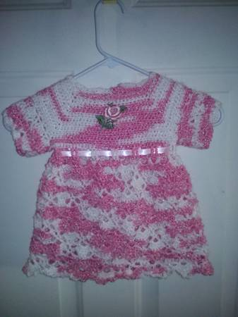 TULIP TIME CROCHETED BABY DRESS -   x0024 40