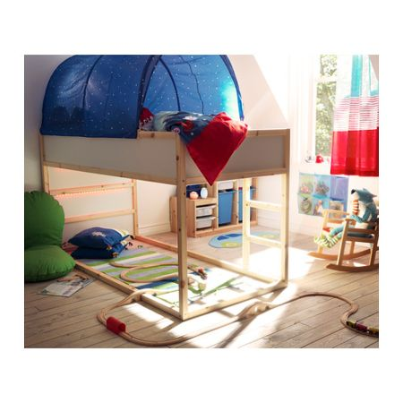 IKEA twin high bed w. tent - $120 (exarkana,Red Water)