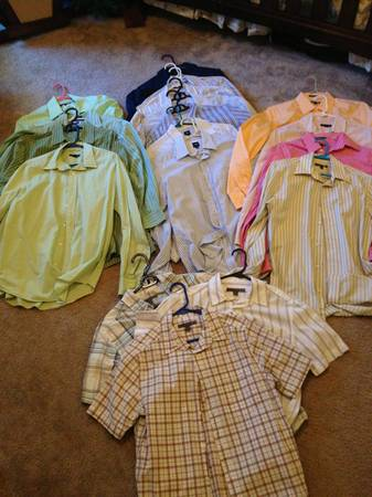 Collection of 18 Mens Dress Shirts, Size Small - $60