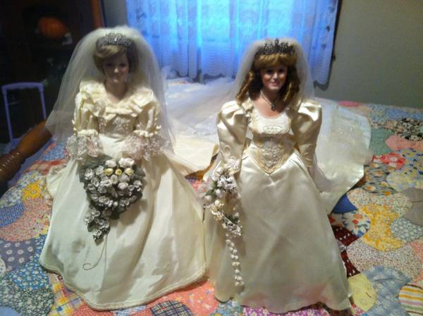 Princess Diana and Princess Sarah bride dolls  - $50 (Atlanta)