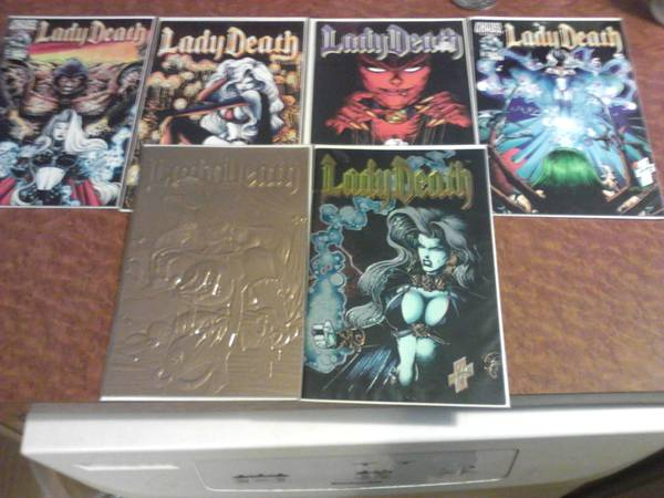 lady death comics and posters - $125 (texarkana)