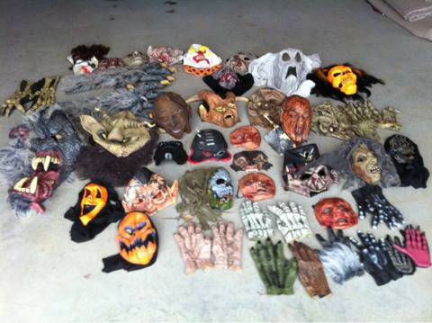 Halloween costumes,props,black lights, and smoke machines - $1 (East texas)