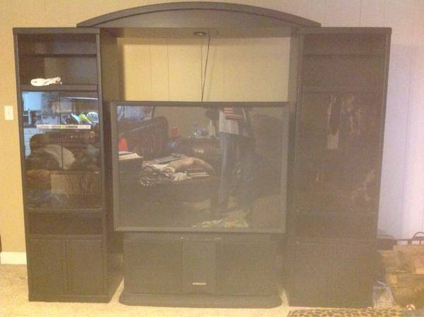53 inch big screen TV, Entertainment Center and Other Items - x0024300 (Hope)