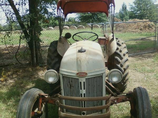 1950 ford 8n tractor with canopy top - $2800 (hope,ar.)