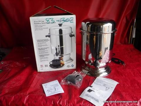 1  NEW REGALWARE 12 tmo 55 cups stainless steel coffee maker  restaurant equipment