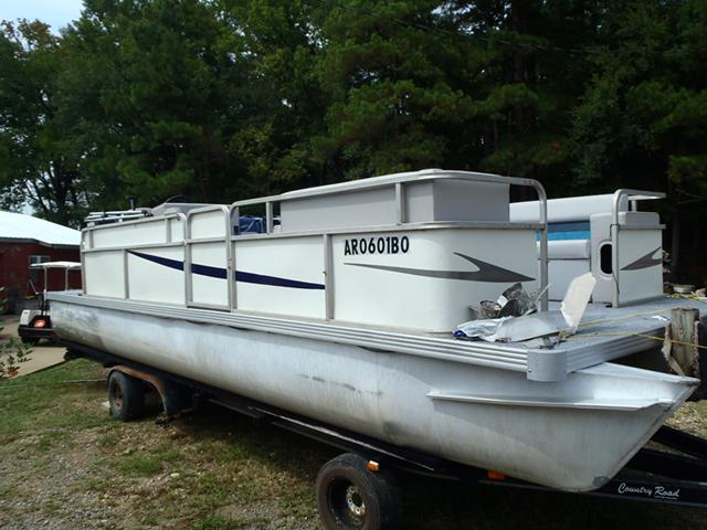 3 200  Lowe 24 ft Party Barge w40 hp Mariner