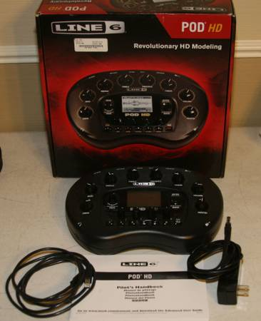 Line 6 POD HD Desktop Guitar Effects Processor And other Items - x0024325
