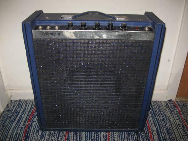 SELL or TRADE vintage blue Harmony H1710 guitar amp 1970s   70