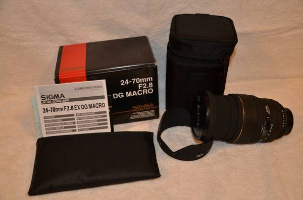 Sigma 24-70 2 8 EX DG MACRO  amp  ND FILTERS -  450  Texarkana