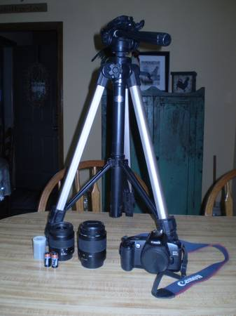 Canon EOS Rebel G - 2 Lenses - Tripod - $80 (Ft. Smith, Pocola, Bokoshe )