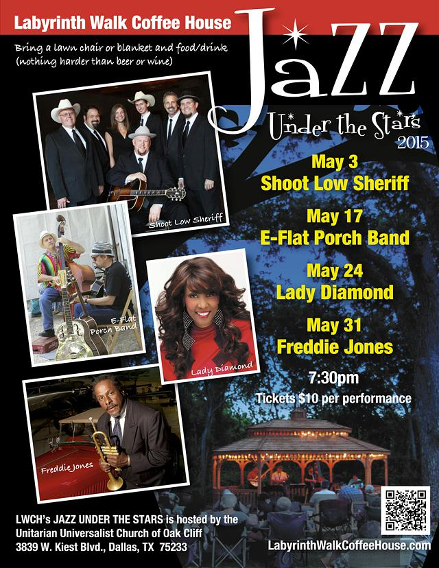 E-Flat Porch Band in Jazz Under the Stars May 17