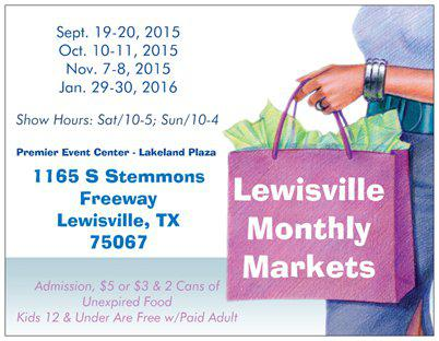 LEWISVILLE FALL MARKET Hard to find items Swag bag giveaway September 19-20