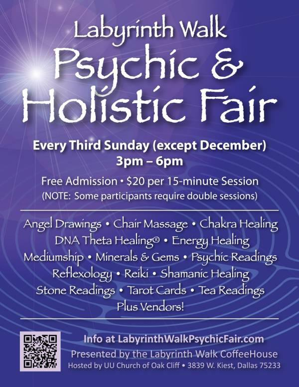 Sept  20 Tarot Card Readers  Healers  Massage  Chakra - at the Labyrinth Walk PsychicHolistic Fair