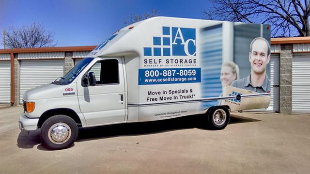 Store your extra items with us  Free Move In Truck