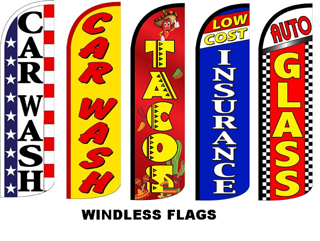 Best selection of,  Windless, Swooper, Feather Flags,Barber, Mattress, Taco, Auto Dealer flag