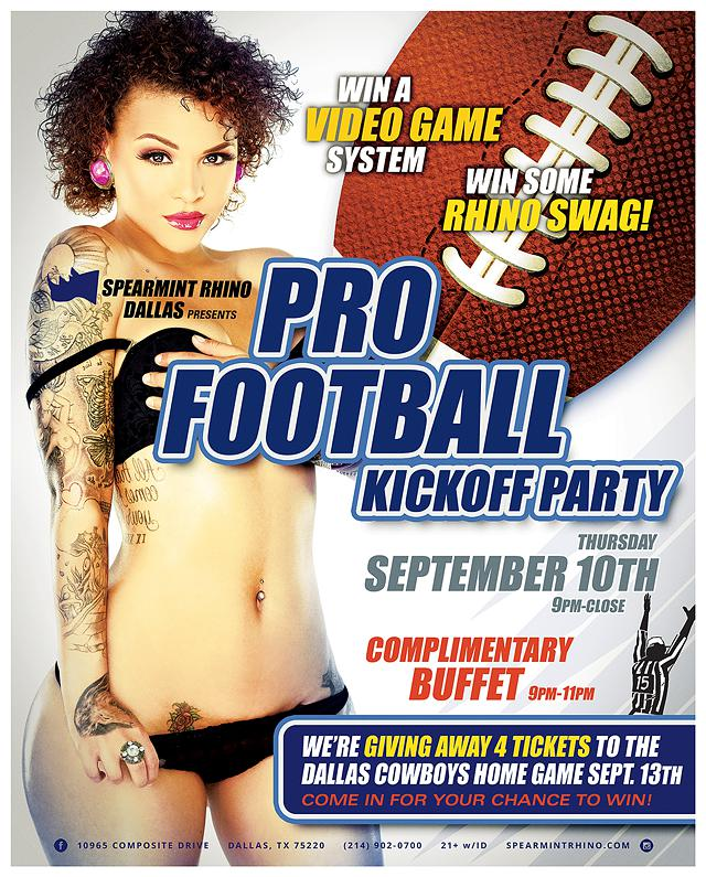 91015 Pro Football Kickoff Party Spearmint Rhino Dallas
