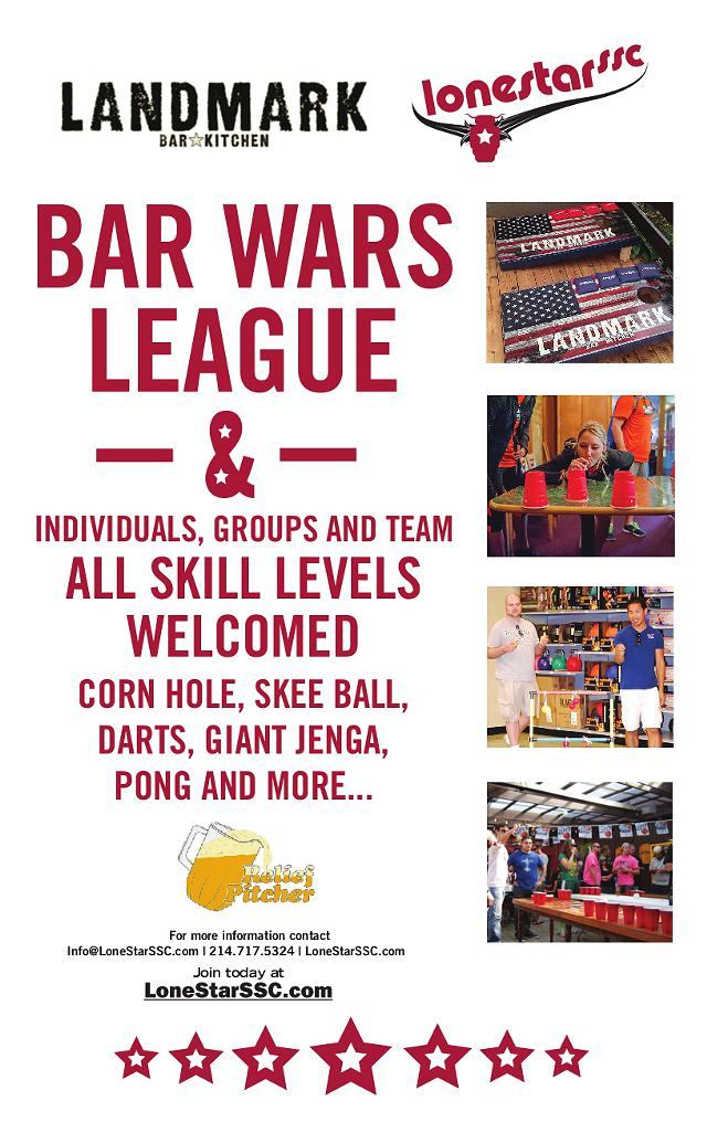 Bar Games League Now Forming at LandMark