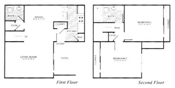 -  890   2br - 1122ft sup2  - The Amesbury Townhomes  75206