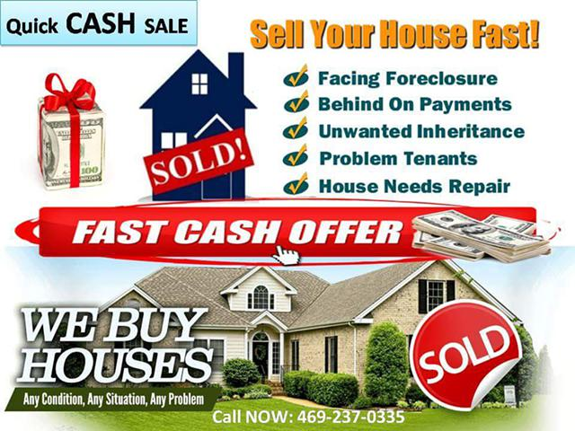 Quick cash for your property