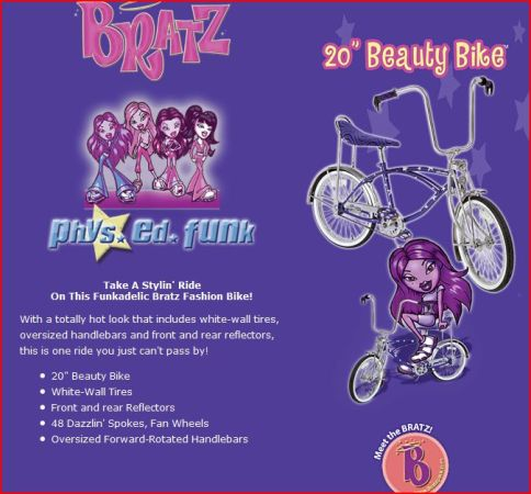 Girls Bratz 20in Beauty Bike(lowrider) - $60 (Sanger)