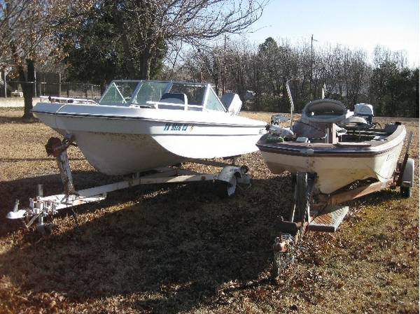 Two  2  boats  motors  trailers  with titles -   x0024 1000  durant