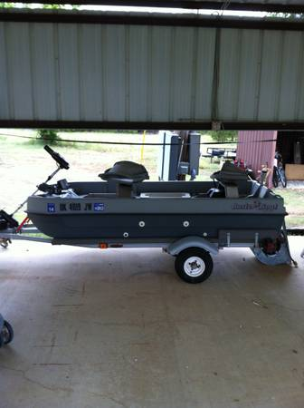 Buster Bass boat with trailer - $1500