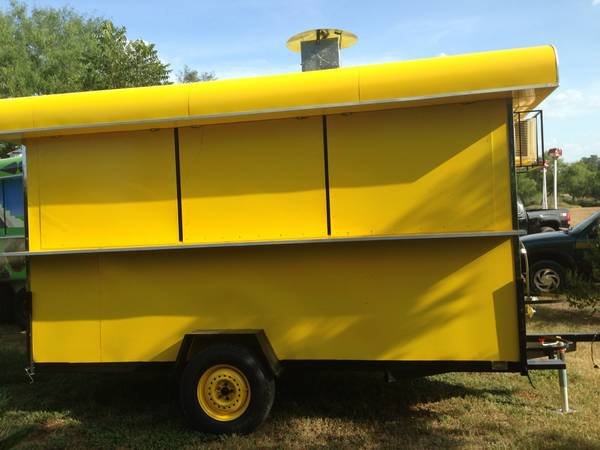 BRAND 12X7 NEW FOOD TRAILER EQUIPPED CONCESSION TACO TRAILER - $10500 (San Antonio)