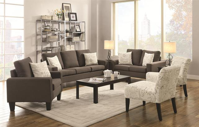 499  Gray Linen 2 Piece Sofa  Loveseat Set On Sale ---Free Delivery