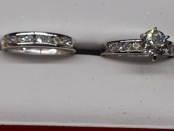 1 5 carats 14K white diamond wedding set -   x0024 2900  obo Sherman