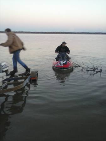 2 kawasaki jet skis with a double trailer $1300 obo - $1300 (sadler gainesville whitesboro sherman de)