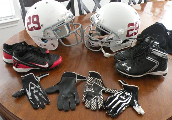 Football gear (Denison, TX)
