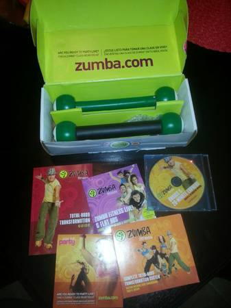 ZUMBA exercisefitness cds and weights package BRAND new - $1 (Texoma)