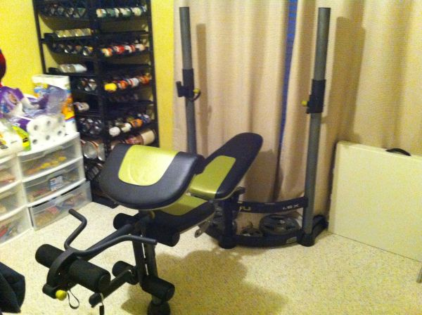 ProForm Fusion 1.6x Space Saving Weight Bench wweights - $180 (Sherman)
