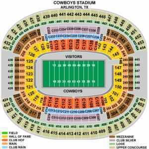 BUY 3 Dallas Cowboys 2013 GAMES (4 Aisle seats) at Box Office Prices - $180 (Section 247 - Arlington)