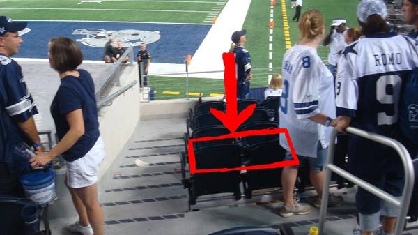 2 Dallas Cowboys vs Oakland Raiders tickets 4TH ROW FROM FIELD AISLE - $325 (Cowboys Stadium)