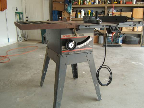 10 Sears Craftsman Table Saw - $100 (Whitewright Tx)