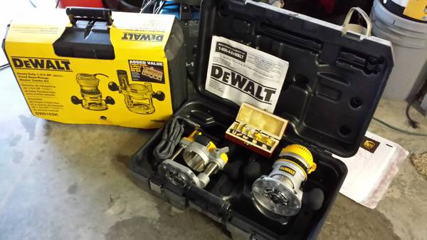 Dewalt DW-616SK Router Kit with Plunge Base and bonus Router Bit Set - $175 (Sherman)