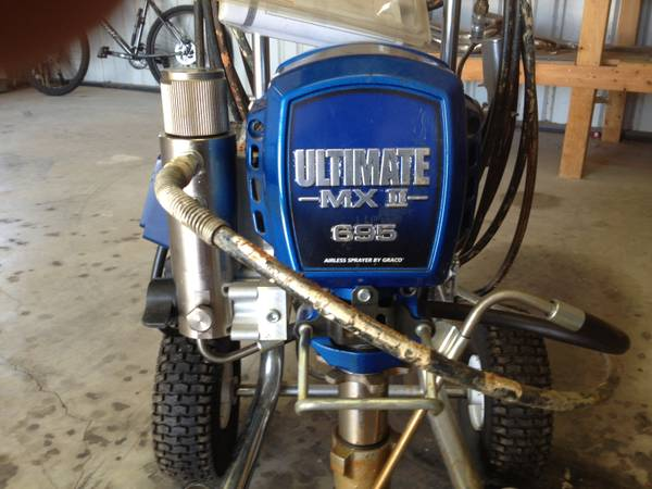 graco ultra max 695 electric airless paint pump - $1400 (lindsay, okla)
