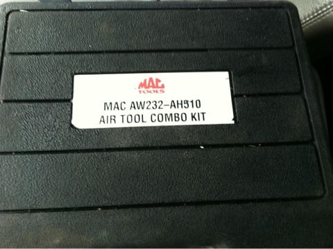Mac tools 12 impact and air hammer combo set - $200 (Wylie, Tx)