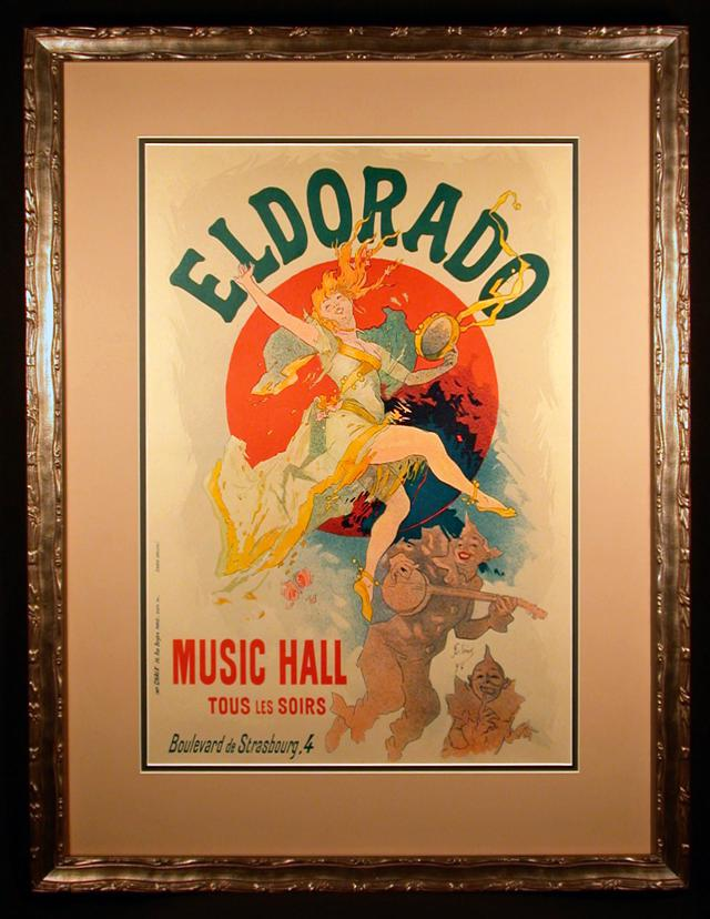 1 800  El Dorado Original 1894 Color Lithograph by Jules Cheret