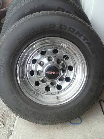 Chevy 8 lug wheels and tires - $400 (Saint Jo)
