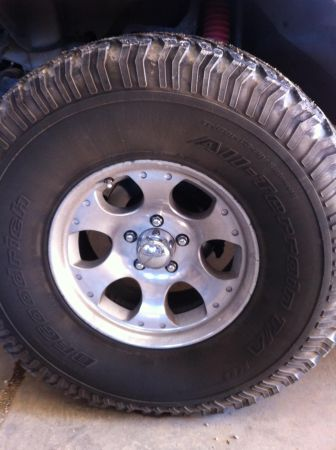 5 15x8 MB Motoring Jeep Wheels and Tires - $500 (Bells)