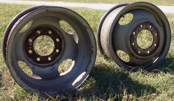 16 Chevy 8 lug Wheels-6 wheels - $35 (Sherman)