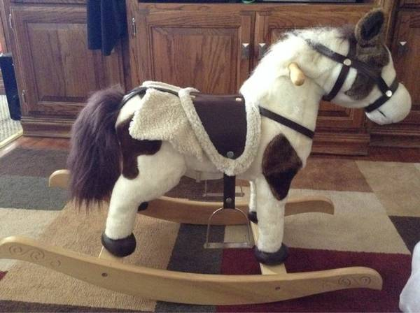 Chrisha Playful Plush Rocking Horse with Motion  Sounds - $25 (Denison, TX)