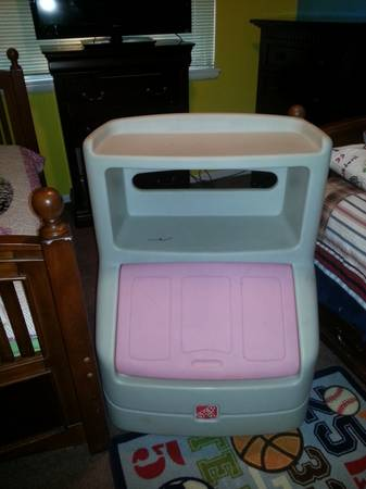 pink step 2 toybox - $25 (Sherman)
