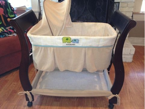 Just One Year Bassinet and Baby Trend High Chair - $50 (Greenville Tx)