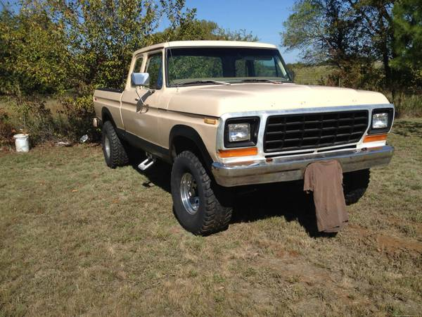 79 F-150 Supercab 4x4 Shortbed on 35s - $4500 (Durant)