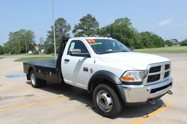 2011 Dodge Ram 4500 4x4 Turbo Diesel with Flatbed - $22500 (Durant Ok)