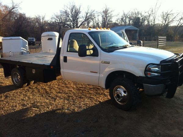 2007 Ford F350 4x4 Dually 12ft Flatbed Diesel - $14350 (Wapanucka, OK)
