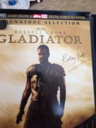 -  DVD gladiator signature selection signed by Ridley Scott   -  -  5  Sherman